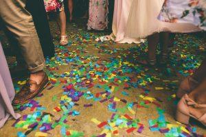 Confetti Filled Floor