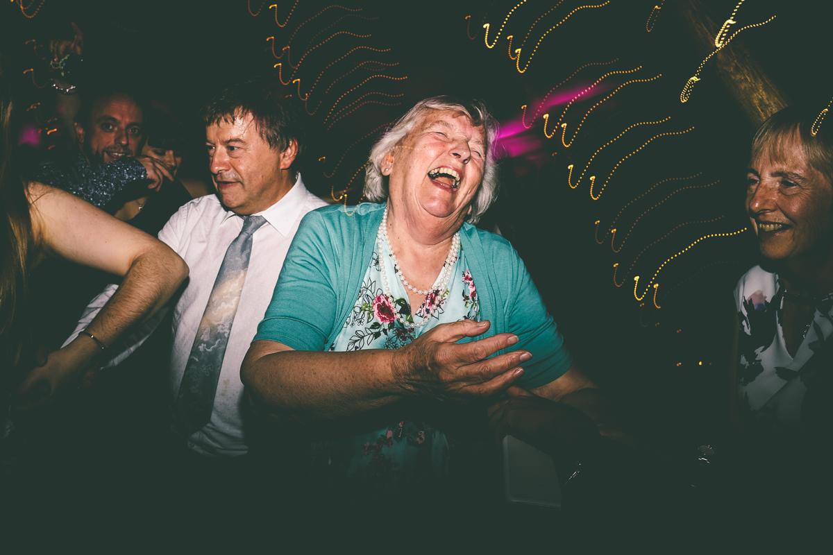 Grandma on dancefloor