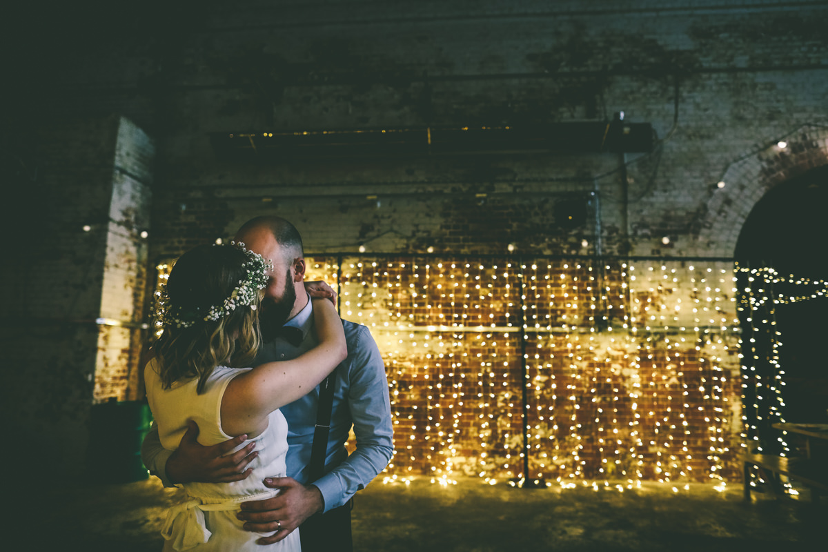 Wedding Portrait Fairy Lights