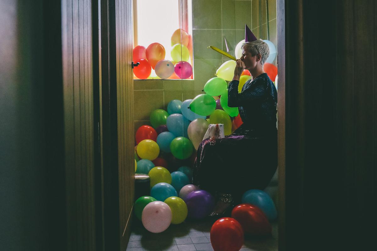 Balloon Self Portrait