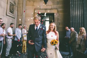 Leeds Town Hall Confetti Photograph