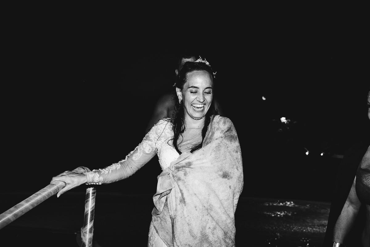 Bride in Pool