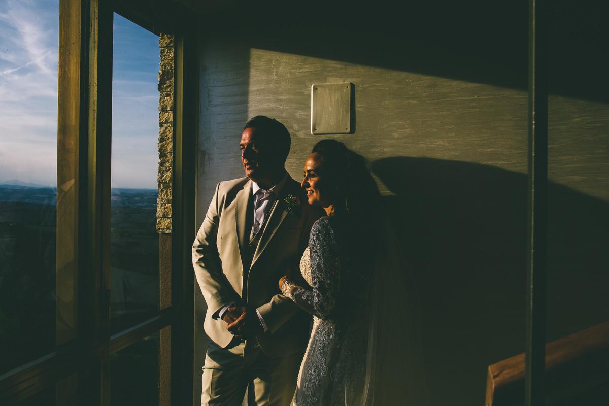 Golden Hour Wedding Portrait