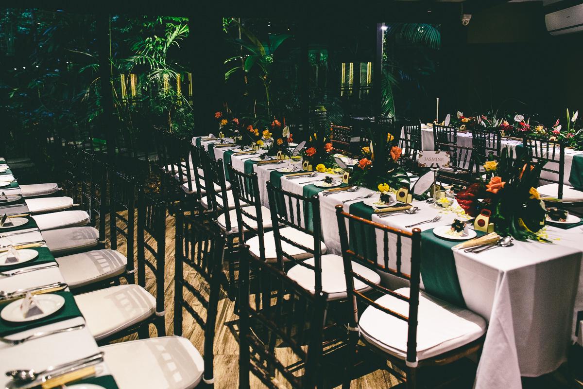 Table Decor Tropical Wedding