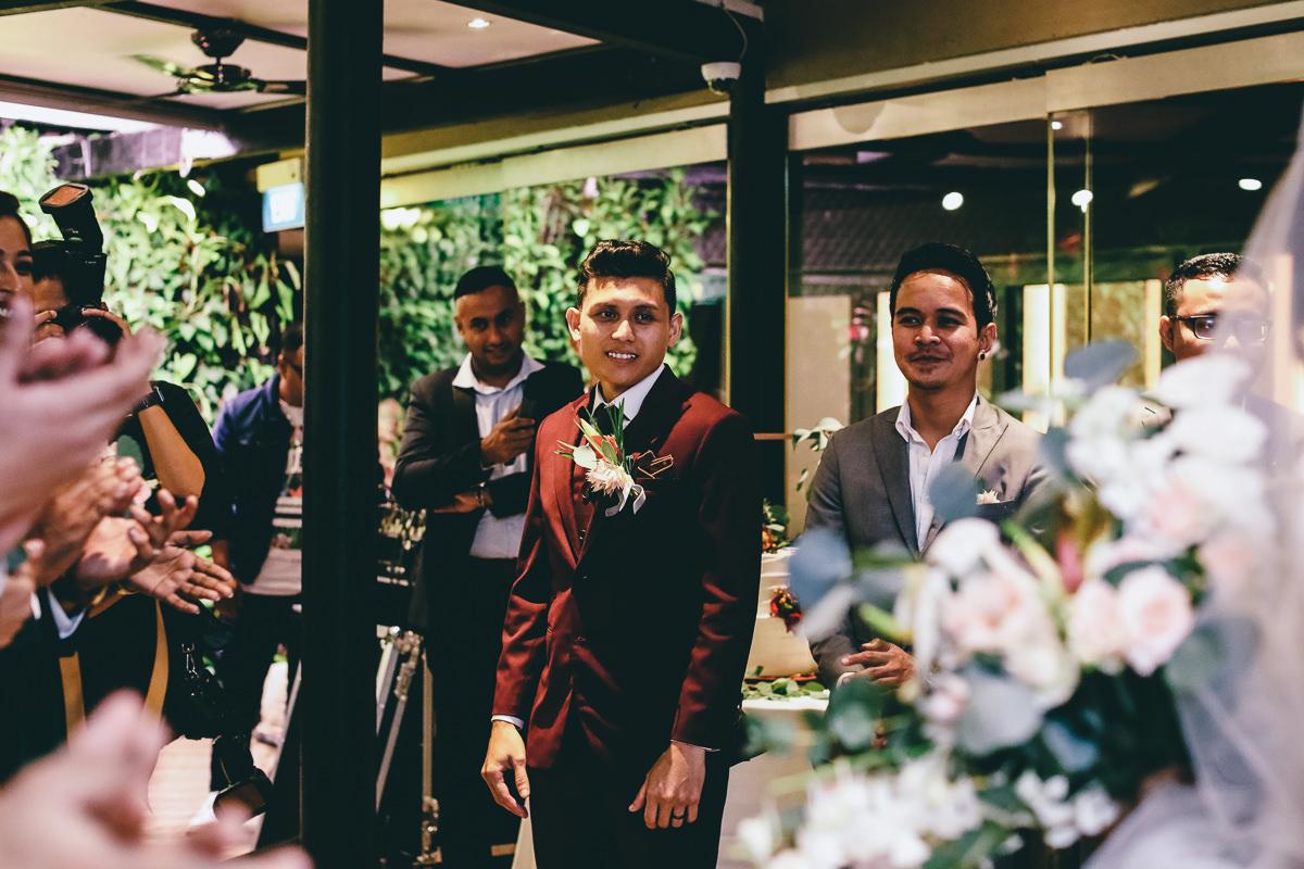 Grooms Reaction Wedding