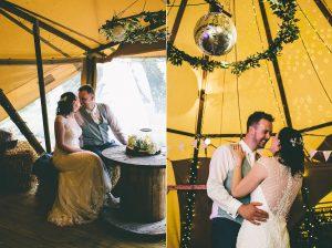Indoor Tipi Wedding Portraits