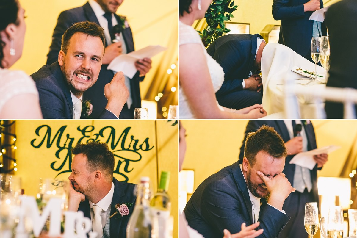 Groom Speech Reactions