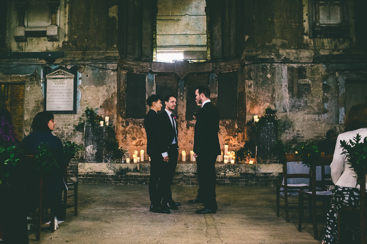 The Asylum London Winter Wedding
