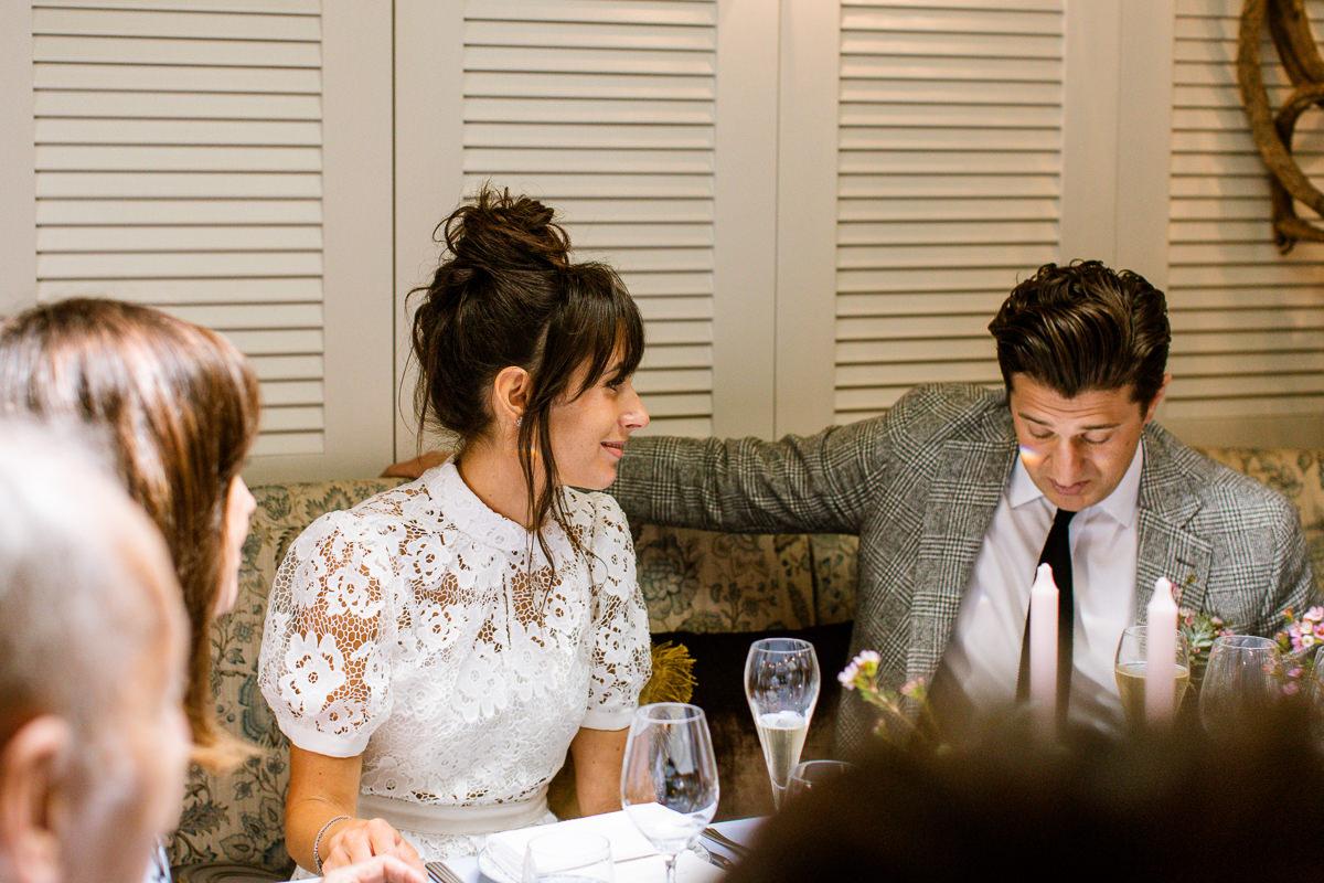 Intimate Wedding Celebration Meal