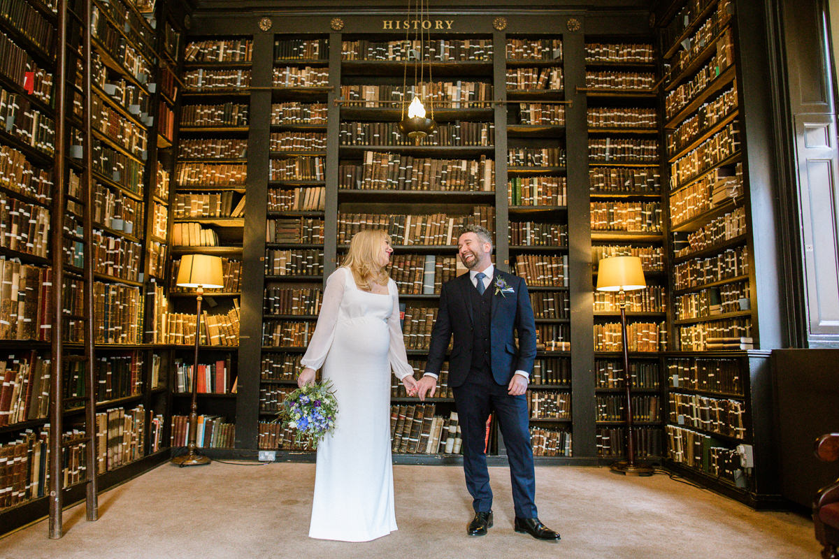 Portico Library Wedding Portraits